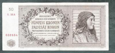 50 korun 1944 NEPERFOROVANA stav 1-