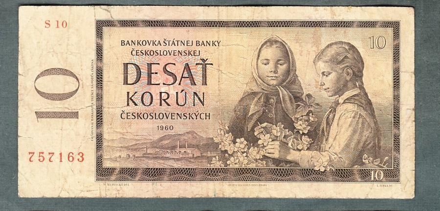 10 kčs 1960 serie S10 - Bankovky