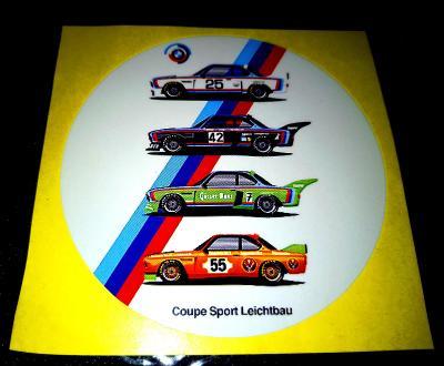 BMW, Coupé Sport Leichtbau, (bílá samolepka pr.7-1x)