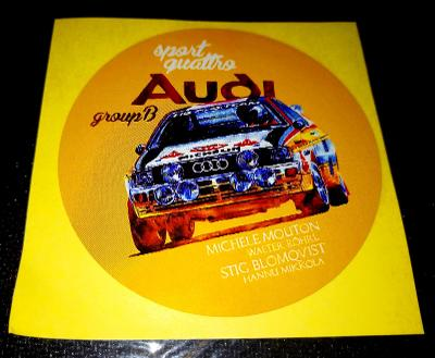 AUDI sport quattro rallye group B, (bílá samolepka pr.7-1x)