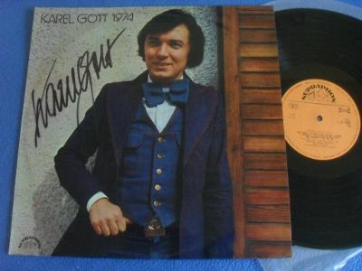 LP Karel Gott 1974 PODPIS !!!