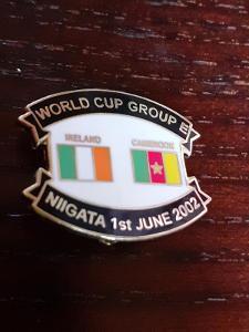 Odznak MS ve fotbale 2002 Jižní Korea - zápas IRSKO - KAMERUN