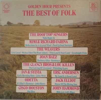 LP Various - Golden Hour Presents The Best Of Folk, 1976 EX