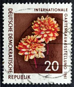 DDR: MiNr.855 Dahlia 20pf, Horticulture Exhibition, Erfurt 1961