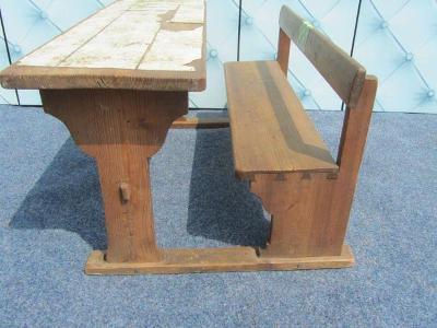 Starožitná dětská školní lavička se stolkem Super dekorace