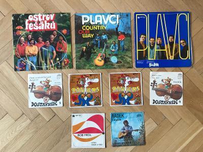 9x LP a SP – folk, country, Fešáci, Plavci, Rangers, Wabi Daněk