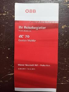 Jízdní řád n- vlakový průvodce ÖBB - EC 70 GUSTAV MAHLER