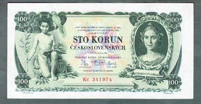 100 korun 1931 serie Kc NEPERFOROVANA stav 1-
