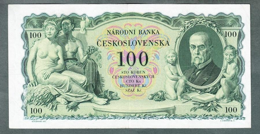 100 korun 1931 serie Kc NEPERFOROVANA stav 1- - Bankovky