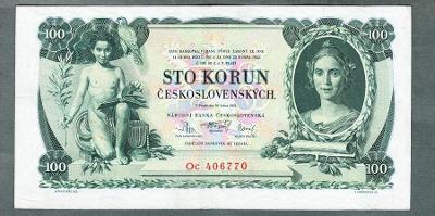 100 korun 1931 serie Oc NEPERFOROVANA stav 1