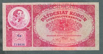 50 korun 1929 serie Ca perf. stav 0
