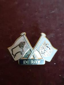 Odznak DERBY COUNTY  - fotbalový klub Anglie