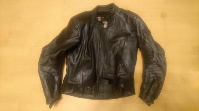 dámská kožená motobunda bunda na motorku vel. 54