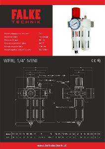 Jednotka pro úpravu stlačeného vzduchu FALKE WFRL mini–šroubení 1/4''