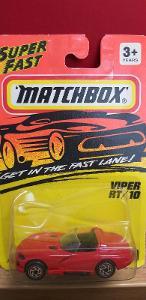 MATCHBOX ´´ DODGE VIPER RT/10 ´´ 1995 #10 - stříbrná kola