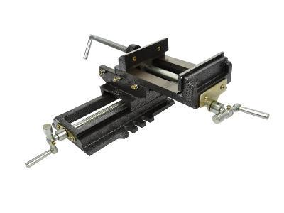 Křížový svěrák dvouosý s čelistí 125mm dílenský strojní G01028