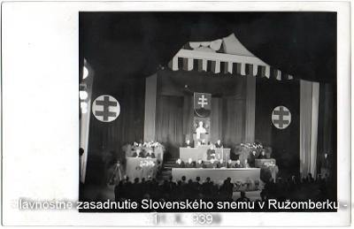 Zasadnutie Slovenského snemu v Ružomberku- veľmi vzácne