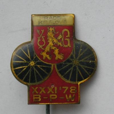 Odznak- cyklistika - Závod Míru