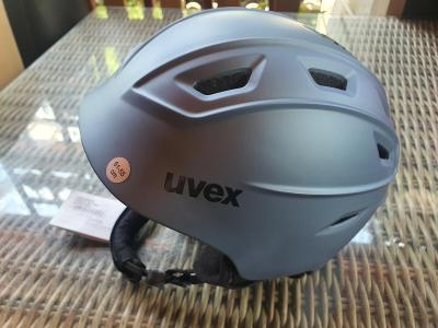 Uvex Fierce lyžařská helma strato met mat vel. 51-55