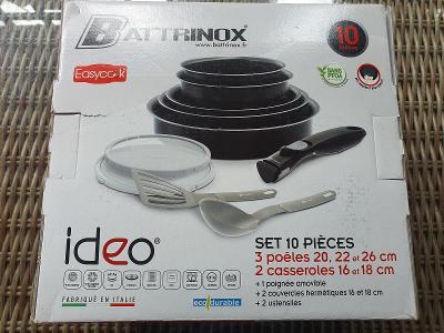 Sada pánví IDEO Battrinox s odnímatelnou rukojetí 10 ks