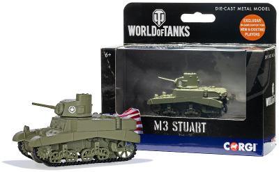 CORGI 70MM TANK M3 STUART PRO HRU WORLD OF TANKS