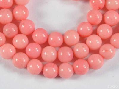 Korál růžový, kuličky 6mm, korálky Ko23-6