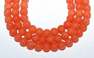 Korál oranžový, kuličky 6mm, korálky Ko34-6