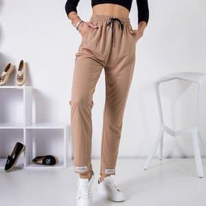Béžové kalhoty L/XL