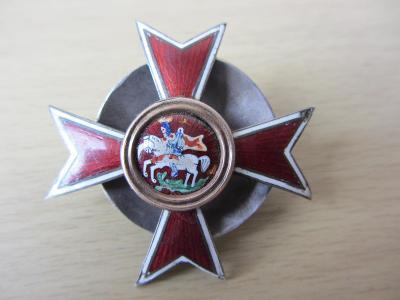 Rusko Odznak absolvent Chuguevské vojenské školy 1913-1917 Stříbro