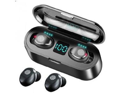 Bezdrátová sluchátka TW80 TWS Bluetooth 5.0 Black + DAREK