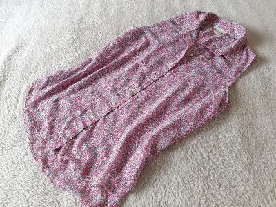 H&M/ELEGANTNÍ KVĚTOVANÁ HALENKA (košilový střih)//M, L
