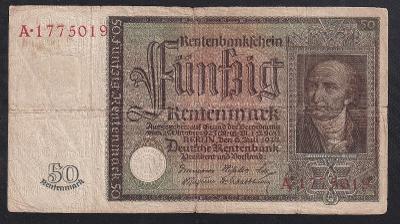 VZÁCNÁ 50 RENTENMARK 1934 - MOC PĚKNÁ!