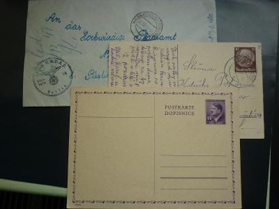 3 x Hitler nsdap ss postkarte 1941 war iiww púsling neustift Reich !!R