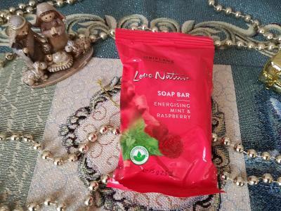 Povzbuzující mýdlo s mátou a malinami Love Natur Oriflame jen 13 Kč!!!