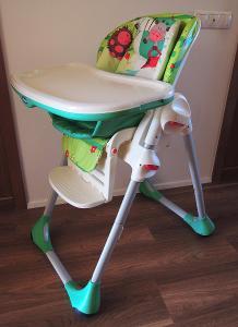 Dětská jídelní židlička Chicco Polly 2v1 greenland zelená