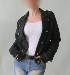 Kabátkové sako z pravé vlny Alba Moda vel. 40