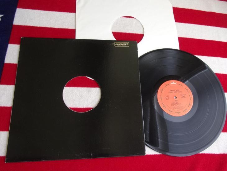 💥 LP: URIAH HEEP - U.H. LIVE, skoro jako nová, PROMO 1.vyd. USA 1973 - Hudba