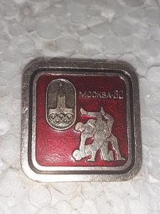 Odznak LOH MOSKVA 1980 - ZÁPAS