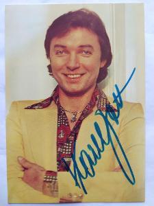 Autogram podpis Gott Karel