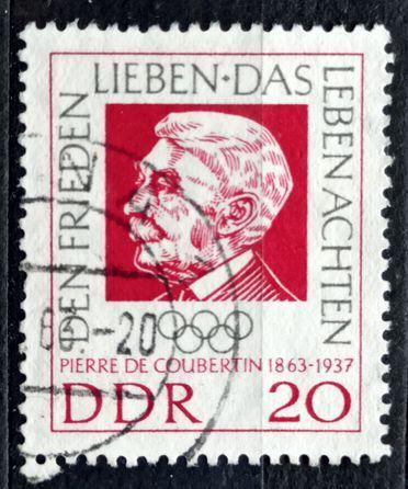 DDR: MiNr.939 Pierre de Coubertin 20pf 1963