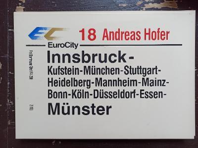 Směrová cedule DB - EC 18 ANDREAS HOFFER
