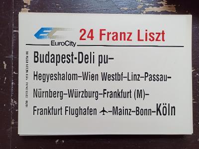 Směrová cedule DB - EC 24 FRANZ LISZT