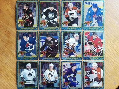 Kompletní set insertních karet Premier Finest 1993-94 ... Top stav!!