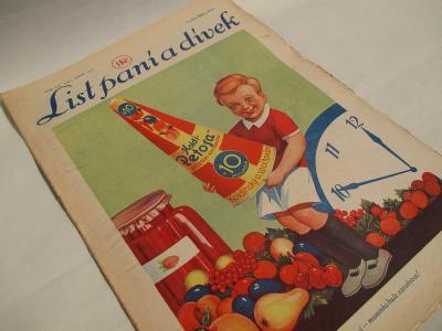 LIST PANÍ A DÍVEK - ČÍSLO 659 (24) ROK 1937 - tit reklama PETOSA