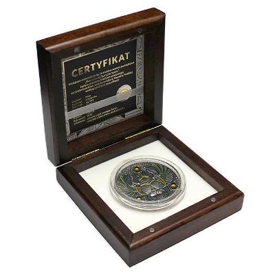 Stříbrná mince Skarabeus 2 Oz limitace pouze 500ks