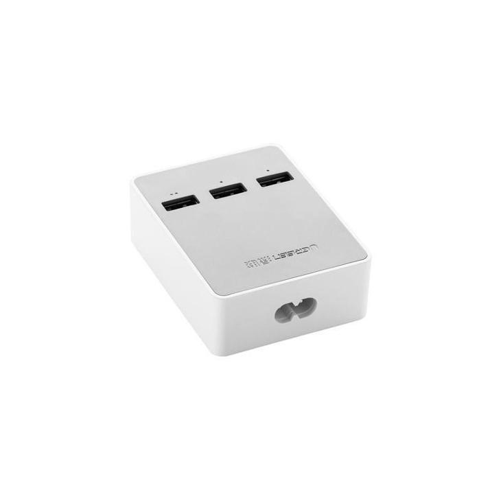Nabíjecí 3-portová USB stanice Ugreen 20360, bílá - Nabíječky