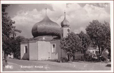 Železná Ruda (Eisenstein) * kostel, auto * Klatovy (Šumava) * M967