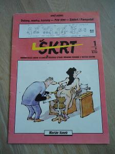 porevoluční humoristický časopis Škrt