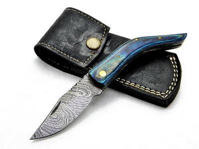 9/ Damaškový lovecky nůž. Rucni vyroba. ZAVIRACI
