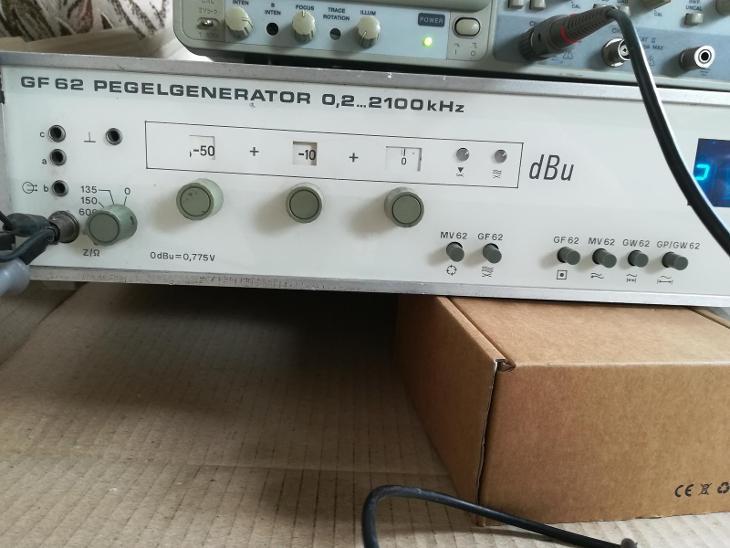 Generátor nf-vf signálu Pracitronic GF-62 - Elektronika
